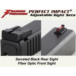 Dawson Fiber / Black Adjustable Set (Glock)