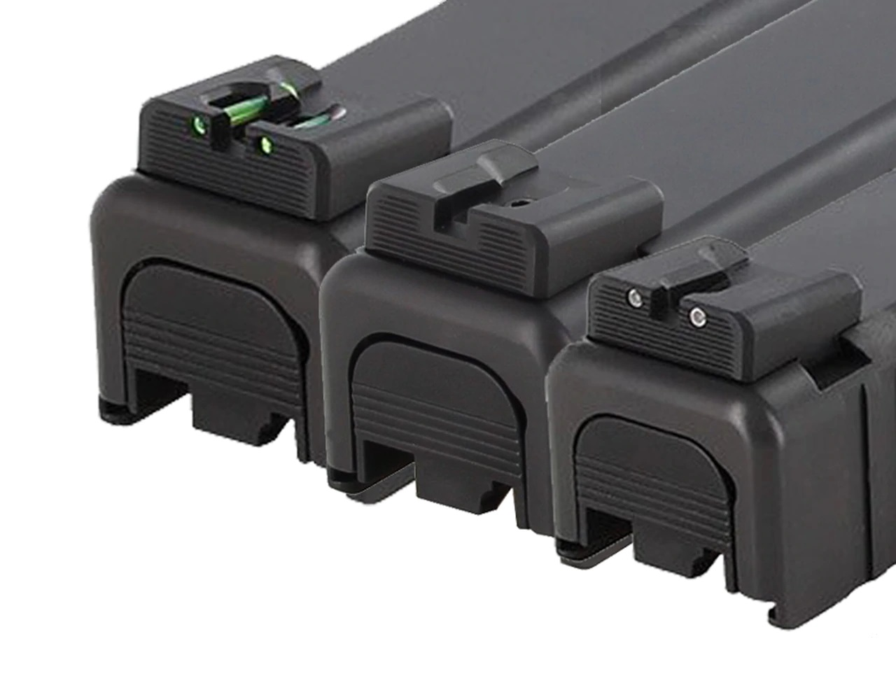 Robust rear sights suitable for carry.